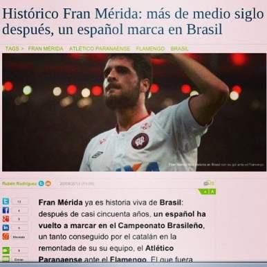 ...e fez história: um espanhol voltava a marcar no Brasil após 50 anos.