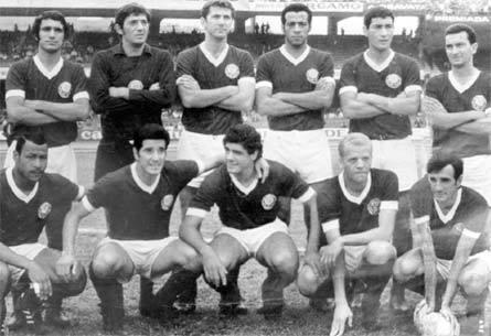 Neuri e o time do Palmeiras na época