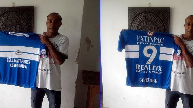 2 4 presidente Gonzaga com a camisa Leonardo Bonassoli Futebol Metrópole