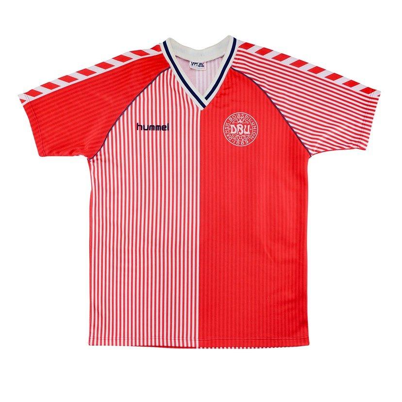 Dinamarca (camisa titular, de 1986 a 1988): 399,99 libras (R$ 2621,41)