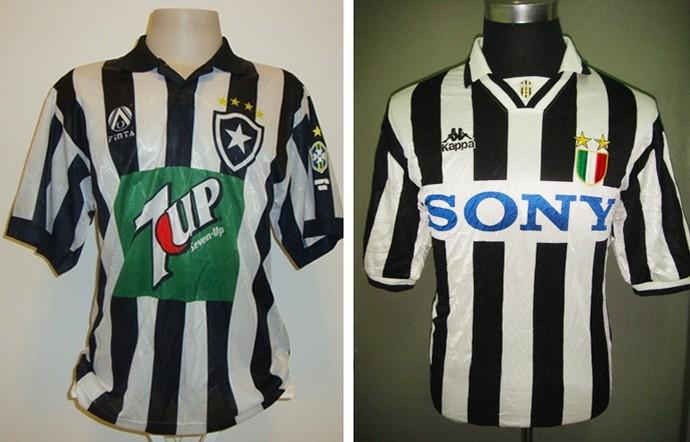 camisas botafogo 1996 e juventus 1996