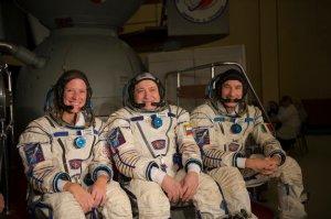 Expd 36 Crew with ESA astroanaut Luca Parmitano, Russian Fyodor