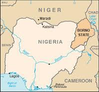 borno nigeria map
