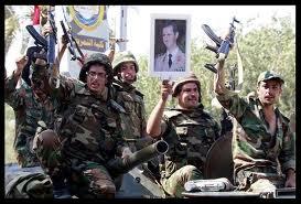 truppe siriane in festa