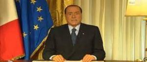 Messaggio tv di Berlusconi
