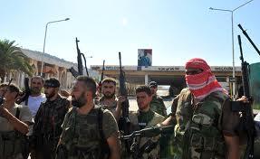 Insorti siriani a  al-Hawa Bab