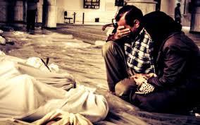 morti siria lacrime parenti