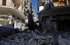 Almeno 10 morti, tra cui 5 bambini muoiono sotto le bombe a Damasco