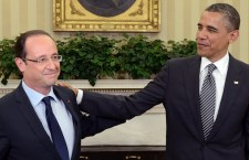 "US President Barack Obama (R) shakes hands with French President Francois Hollande in the Oval Office at the White House in Washington, DC, on May 18, 2012 in advance of the G8 and NATO Summits. Obama told French counterpart Francois Hollande during White House talks on Friday that their countries' bilateral relationship is ""deeply valued"" by Americans. Just three days after being sworn in to replace pro-American president Nicolas Sarkozy, Hollande, a Socialist, held Oval Office talks with Obama focusing on the euro crisis and how to improve growth.  AFP PHOTO/POOL/ERIC FEFERBERG"