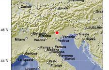 E' stato di magnitudo 4.2 il terremoto registrato nel Veneto, tra Belluno, Vicenza e Treviso