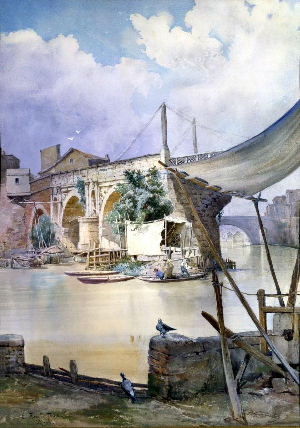 Baracche di pescatori al Ponte Rotto