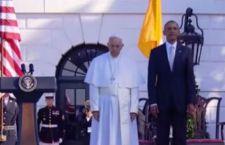 Obama accoglie Francesco alla Casa Bianca: Papa della speranza