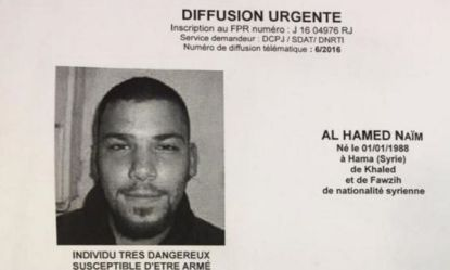 Il ricercato, il siriano Naim Al Hamed