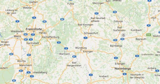 Mappa della Baviera del nord