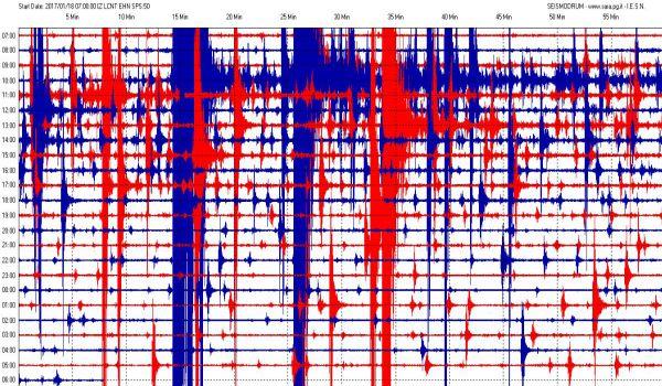 Tracciato sismografo