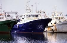Il pescherecio ''Daniela L.'' del compartimento di Mazara del Vallo, Trapani. L'imbarcazione, iscritta nei registri della Capitaneria di porto di Mazara del Vallo, e' stata sequestrata dai libici ieri intorno alle 21. A bordo del natante, di proprieta' dell'armatore palermitano Cosimo Lo Nigro, si trovano sei marittimi, tre mazaresi e tre tunisini. Il comandante e' Giuseppe Perniciaro, 58 anni. ANSA / FRANCO LANNINO