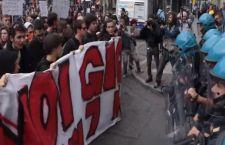 Torino: scontri tra polizia e manifestanti contro il G7