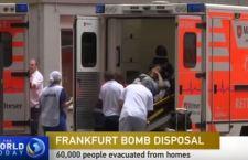 Francoforte: 65 mila persone sfollate per una bomba della Seconda Guerra mondiale