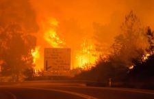 Fumo a Torino per gli incendi in Piemonte