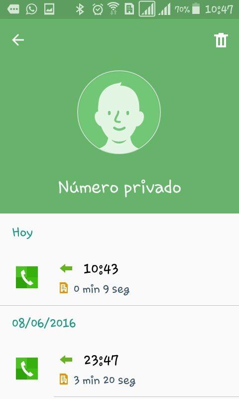 llamada privada