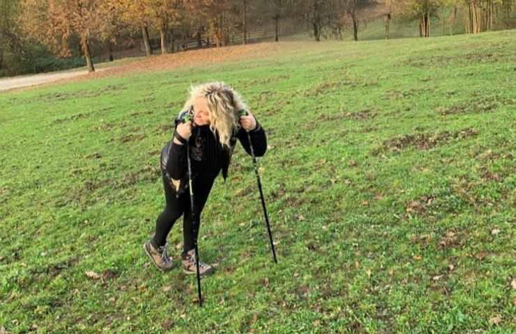 Antonella Clerici in una escursione