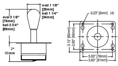 Joysticks :: Joysticks :: UltraStik 360 Oval Top