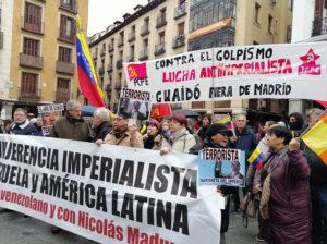 Activistas en Madrid rechazan visita de Guaidó