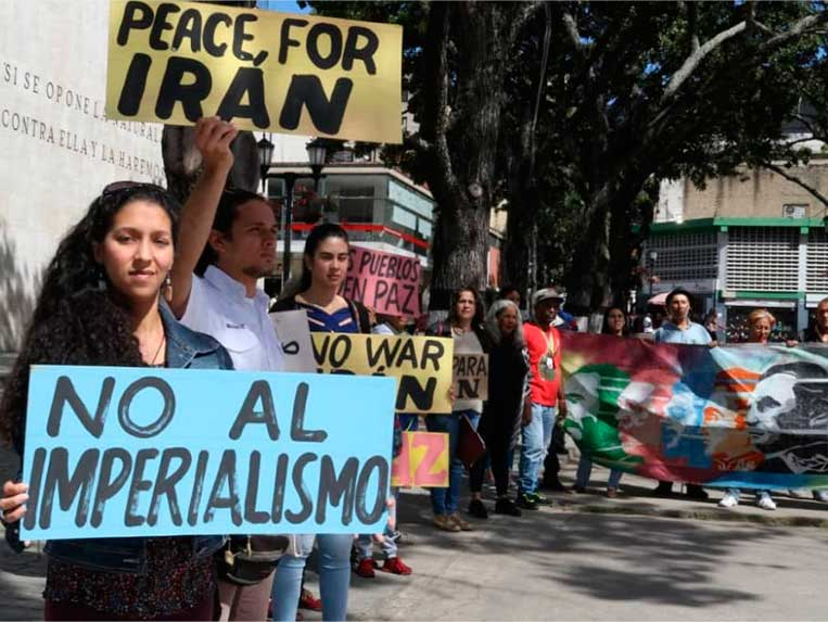Venezuela llama a los pueblos del mundo a oponerse a la guerra de EEUU contra Irán