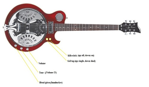 steel guitar pickup wiring diagrams electronic schematics collections  ovation