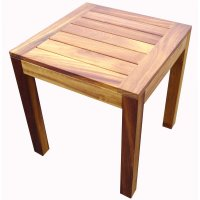 Iroko Light Wood End Table - from Ultimate Contract UK