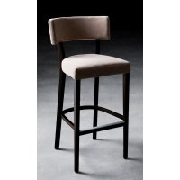 Miami Dark Wood Upholstered Barstool 401 - from Ultimate ...