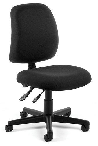 posture gaming chair mid century rocking series armless back ofm review task