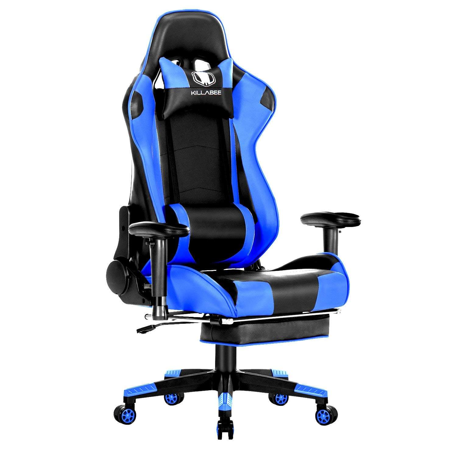 gaming chair review with long seat killabee big and tall 350 lb 350lb massage memory foam