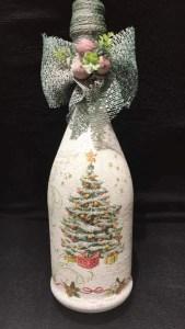 Prosseco Bottle Christmas Tree | Calamity Jane Crafting Image
