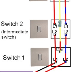 Intermediate Switch Wiring Diagram Uk 2004 International 4300 Starter Three Way Light Switching Fitting With The Old Colours