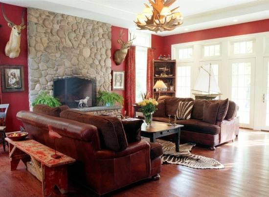 Living Room Rustic Wood Furniture Keep On Chairs Oak Western Leather
