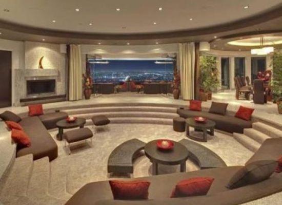 Amazing sunken living room design with multiple seating - NO.1# BEAUTIFUL SUNKEN LIVING ROOM DESIGN IDEAS
