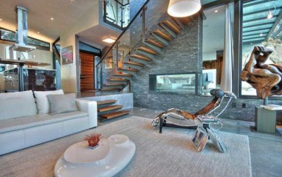 Unique sunken living room design with sculpture decor - NO.1# BEAUTIFUL SUNKEN LIVING ROOM DESIGN IDEAS