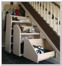 innovative closet rod under stairs  Roselawnlutheran