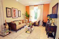 Orange Accent Wall Living Room | www.pixshark.com - Images ...