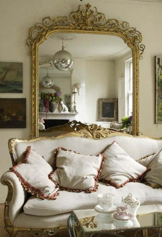Living Room Decorating Ideas with Mirrors