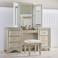 Vanity With Chair And Mirror Office Modern Design Makeup Tables Functional But Fashionable Furniture