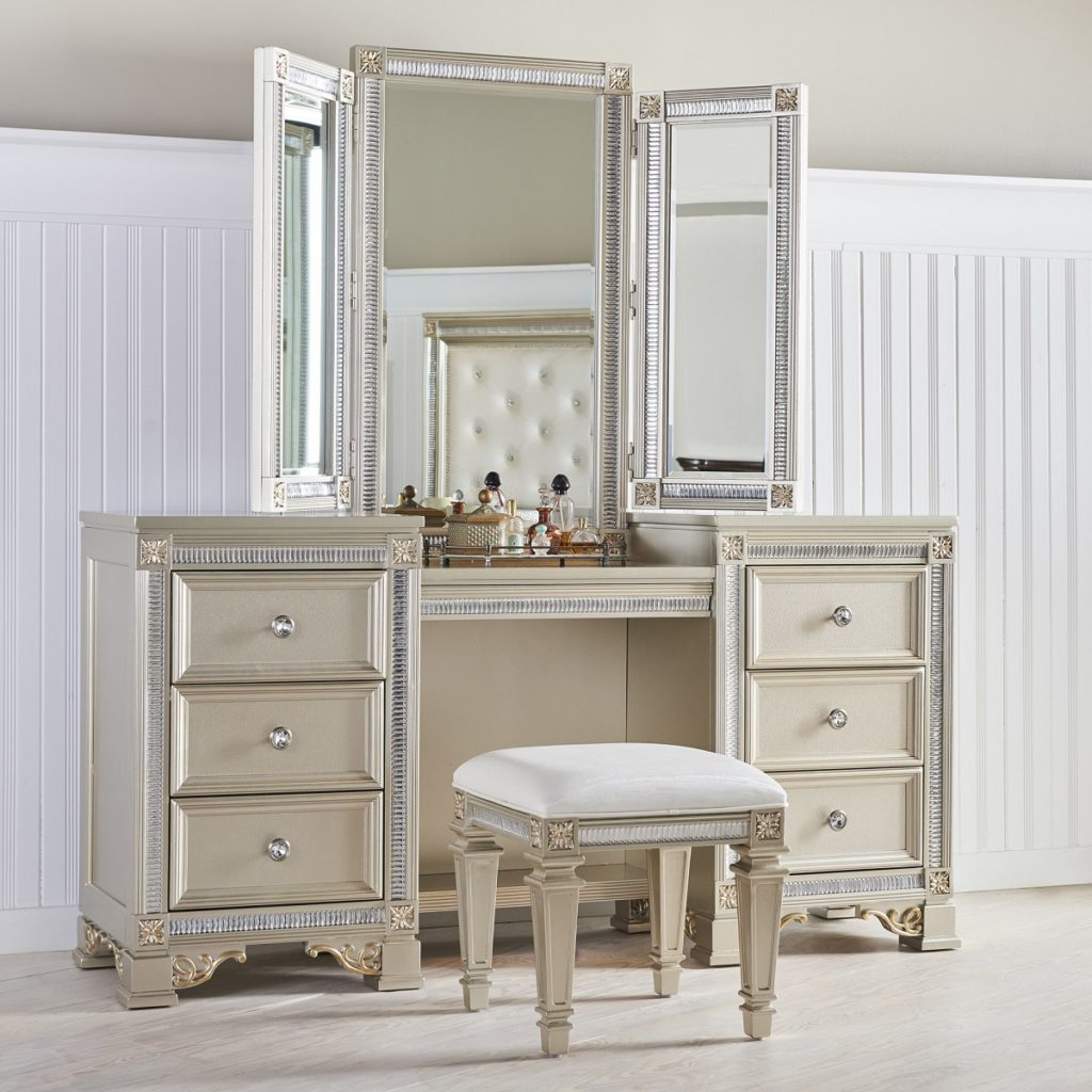 chair with built in bookshelf pbk anywhere makeup vanity tables: functional but fashionable furniture