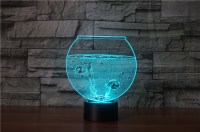 Fish Bowl 3D LED Lamp