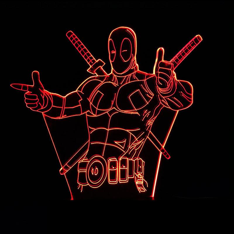 Marvels Deadpool Cool 3D LED Lamp