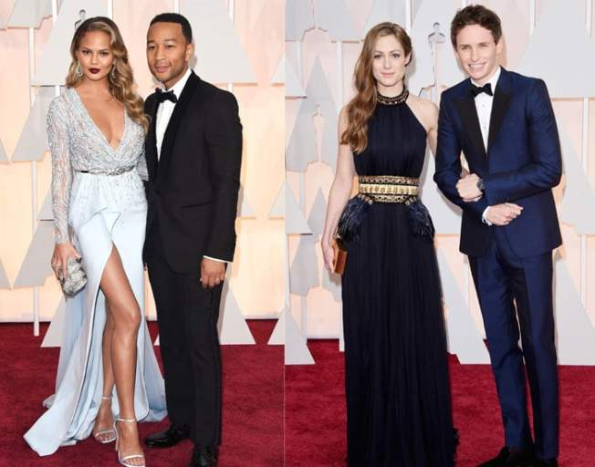 We couldn't complete this list without picking some of the best dressed couples either. Chrissy Tiegen looks amazing in a baby blue Zuhair Murad dress while husband John Legend is slick in Gucci.  Eddie Redmayne and his wife Hannah both wore Alexander McQueen in a heavenly shade of blue. Eddie may have picked up the Oscar but we've fallen in love with Hannah's dreamy dress.