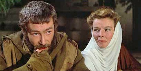 Image result for peter o'toole and katharine hepburn in lion in winter