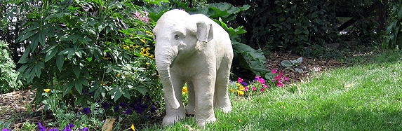 Large Paper Mache Baby Indian Elephant