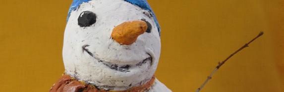 Paper Mache Clay Snowman