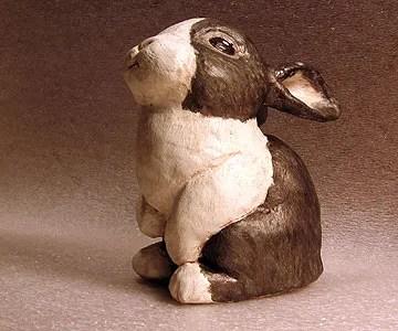 Paper Mache Dutch Bunny